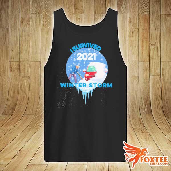 I Survived Snovid-2021 Arkansas Snowstorm Winter Storm 5 Shirt tank-top