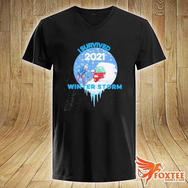 I Survived Snovid-2021 Arkansas Snowstorm Winter Storm 5 Shirt v-neck