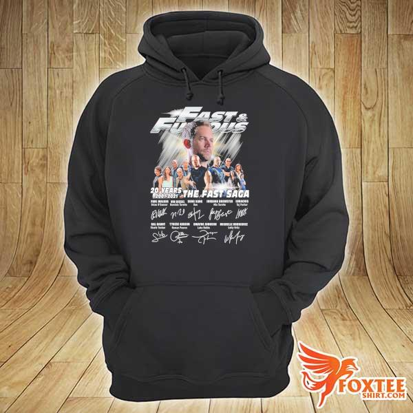 Official Fast And Furious 20 Years 2001 - 2021 The Fast Saga Signatures Shirt hoodie