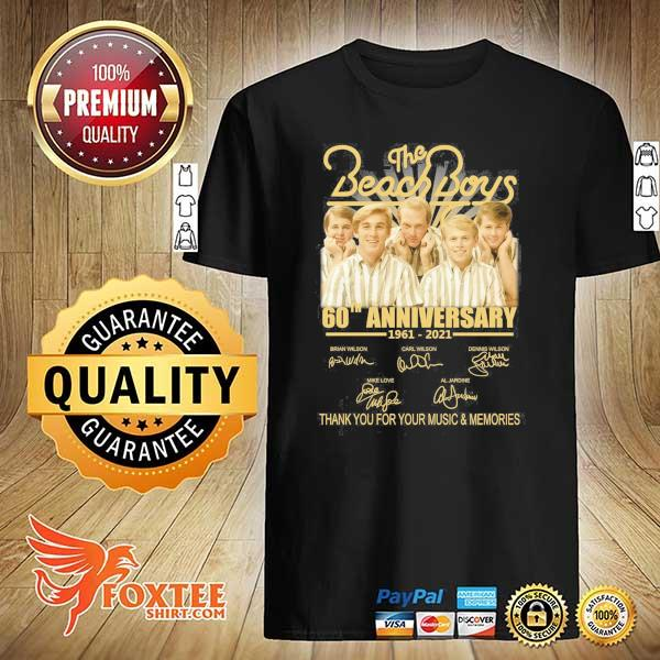The Beachboy 60th Anniversary 1961 - 2021 Signatures Thank You For Your Music And Memories Shirt