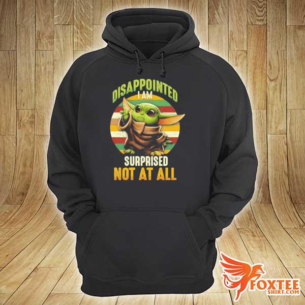 Baby Yoda Vintage disappointed I am surprised not at all s hoodie