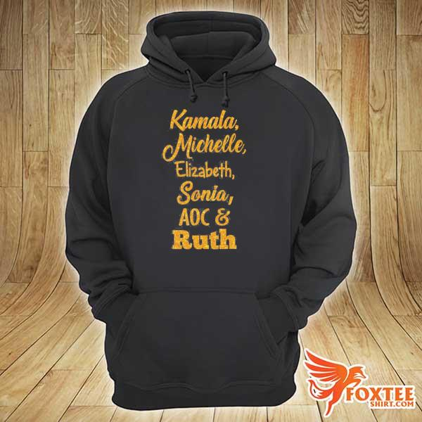 Badass powerful women kamala michelle rbg elizabeth and sonia feminist s hoodie