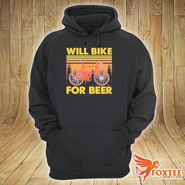 Bicycle will bike for beer vintage s hoodie