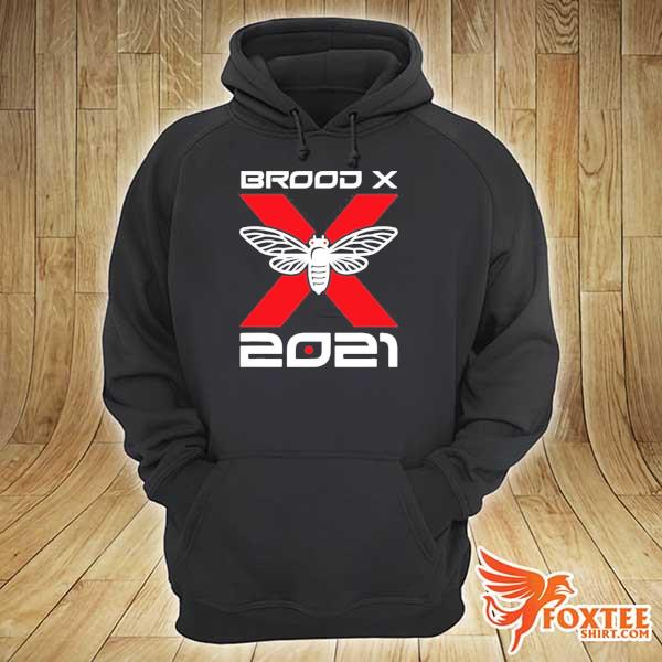 Cicada Brood X 2021 Reemergence Theme Minimalist Shirt hoodie