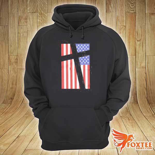 Cross in flag s hoodie