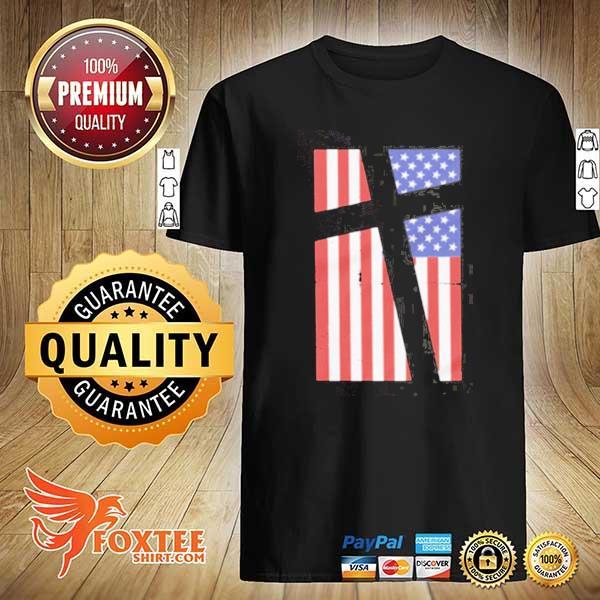 Cross in flag shirt