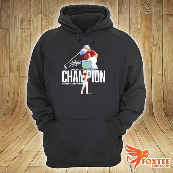 Awesome 2021 masters tournament champion hideki matsuyama signature hoodie