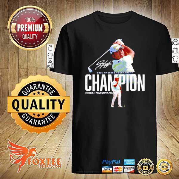 Awesome 2021 masters tournament champion hideki matsuyama signature shirt