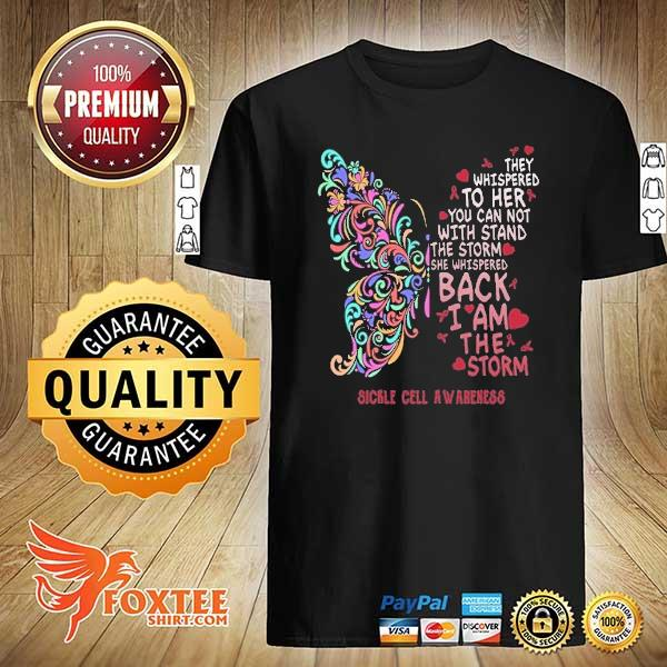 Butterfly sickle cell anemia awareness shirt