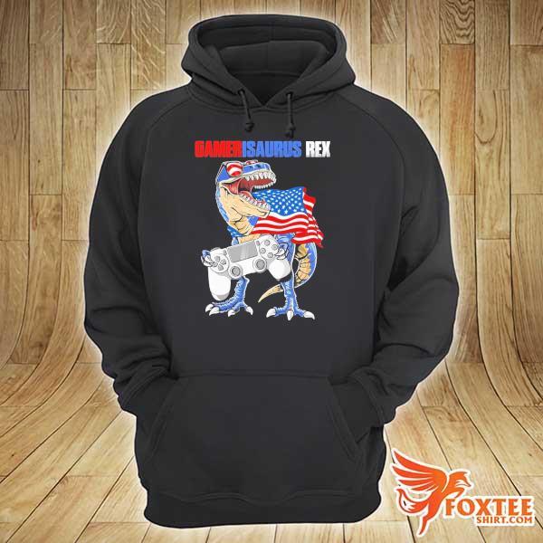 Gamersaurus Rex American Flag s hoodie