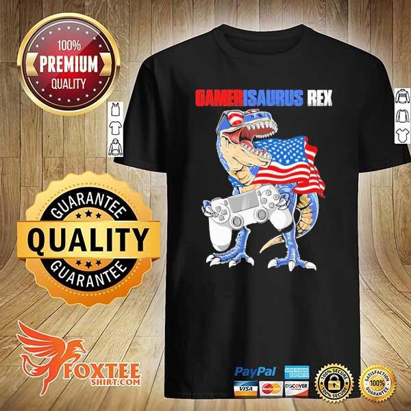 Gamersaurus Rex American Flag shirt
