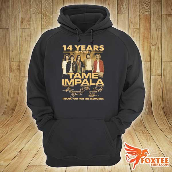 Original 14 years 2007 - 2021 tame impala dominic simper kevin parker cam avery thank you for the memories hoodie