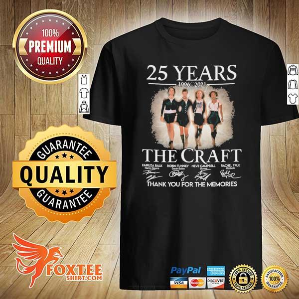 Original 25 years 1996 - 2021 the craft signatures thank you for the memories shirt