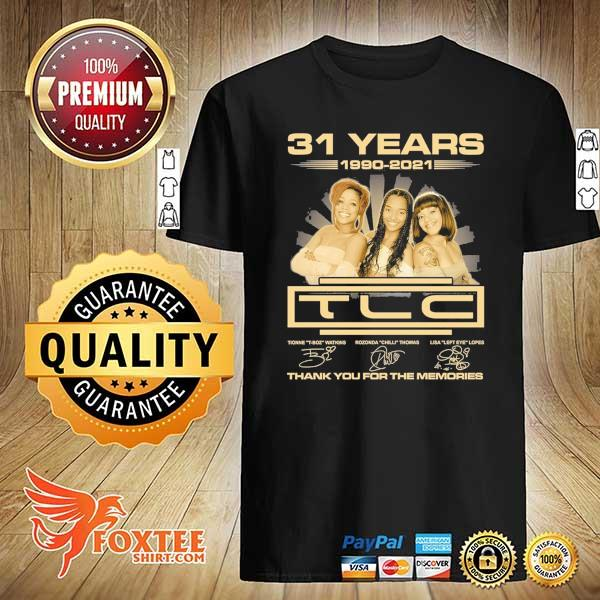 Original 31 years 1990 - 2021 tcl signatures thank you for the memories shirt