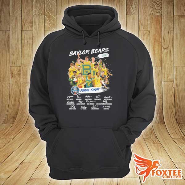 Original baylor bears 2021 final four jared butler dain dainja signatures hoodie