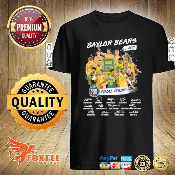 Original baylor bears 2021 final four jared butler dain dainja signatures shirt