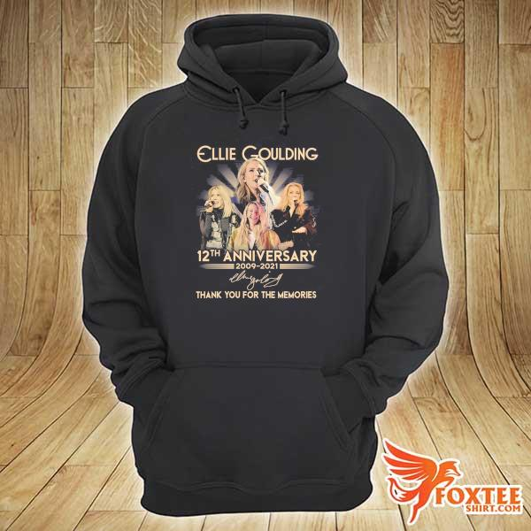 Original ellie goulding 12th anniversary 2009 - 2021 signature thank you for the memories hoodie