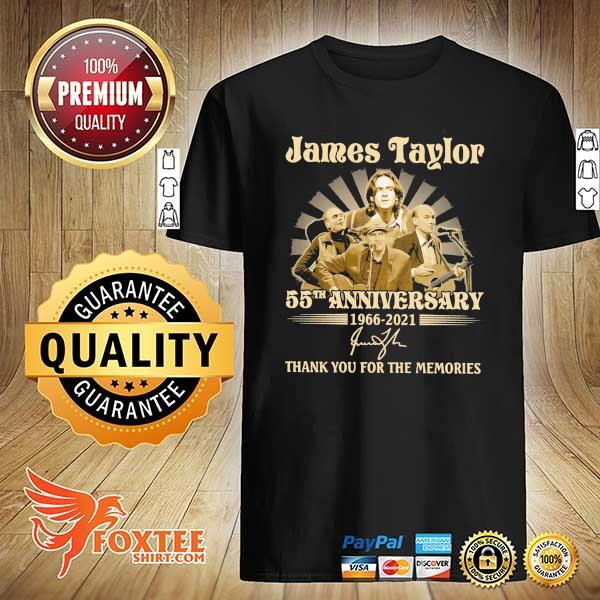 Original james taylor 50th anniversary 1966 - 2021 signatures thank you for the memories shirt