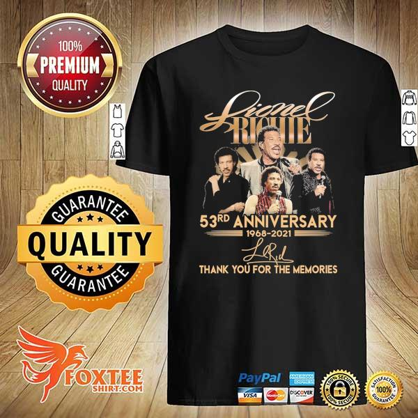 Original lionel richie 58rd anniversary 1968 - 2021 signature thank you for the memories shirt