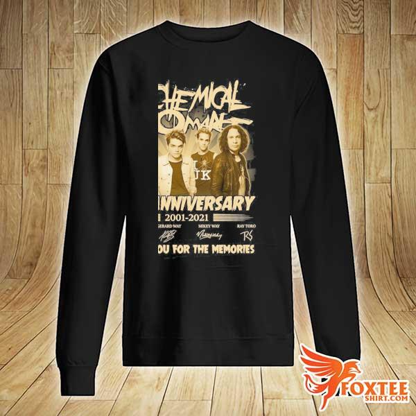 Original my chemical romance 20th anniversary 2001 - 2021 signatures thank you for the memories sweater