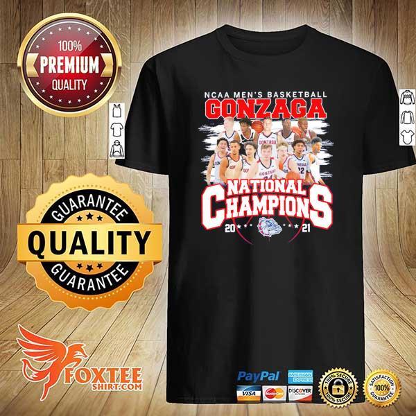 Original ncaa men's basketball gonzaga national champions 2021 shirt