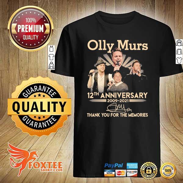 Original olly murs 12th anniversary 2009 - 2021 signature thank you for the memories shirt