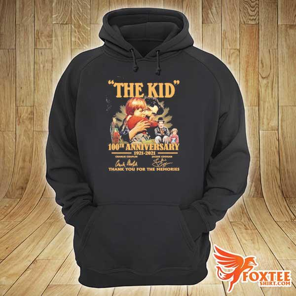 Original the kid 100th anniversary 1921 - 2021 charlie chaplin jackie coogan signatures thank you for the memories hoodie
