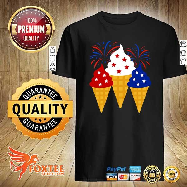 Creams American 4th Of July Independence Day Shirt