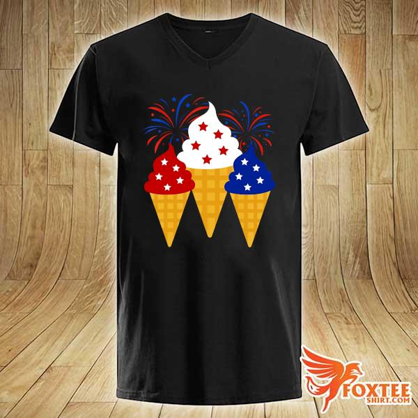 Creams American 4th Of July Independence Day Shirt v-neck