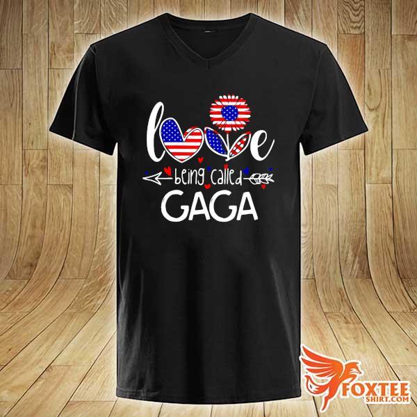 Love Being Called American Sunflower - Gaga Shirt v-neck