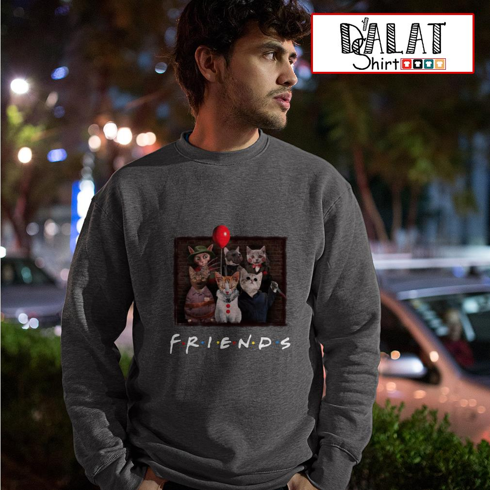 Halloween Friends TV Show cat in horror movie character Sweater