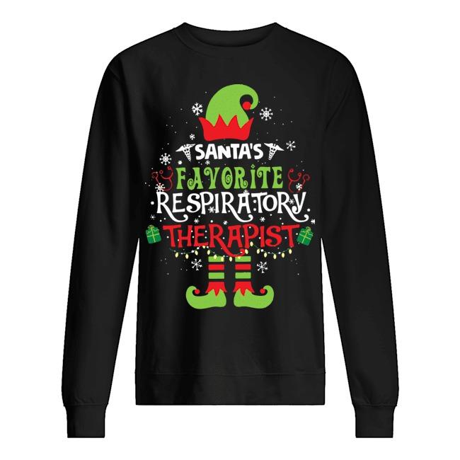 ELF Santa's Favorite Respiratory therapist shirt