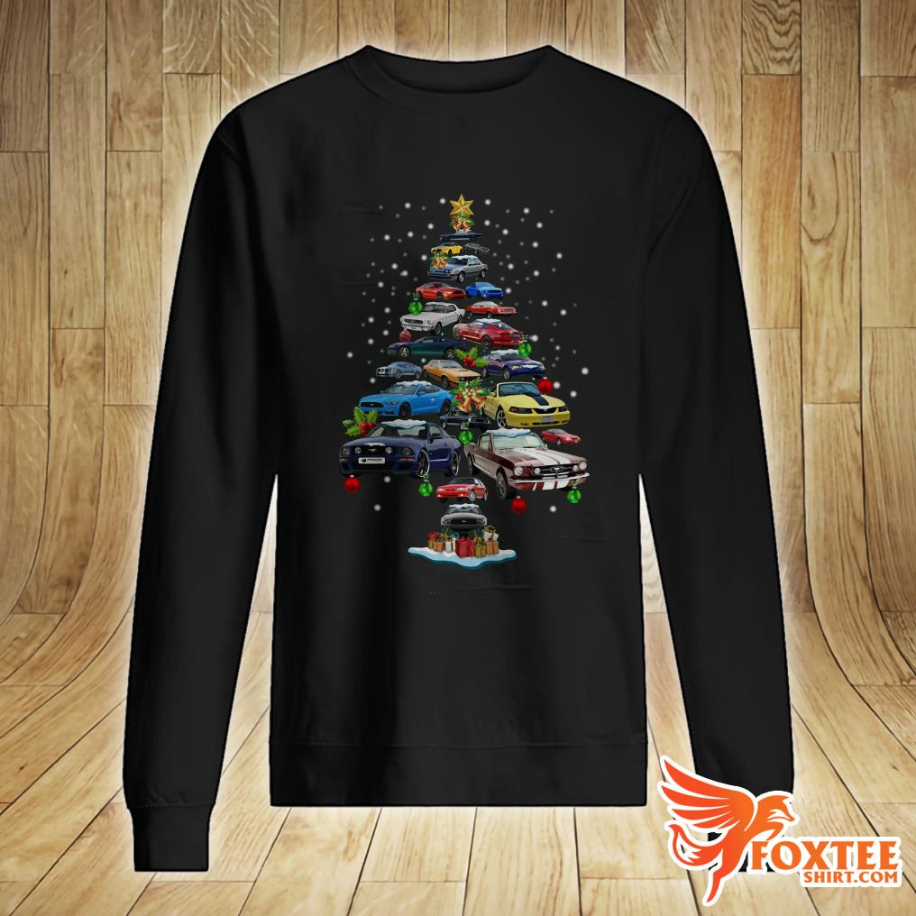 Mustang Car Christmas Tree Sweater