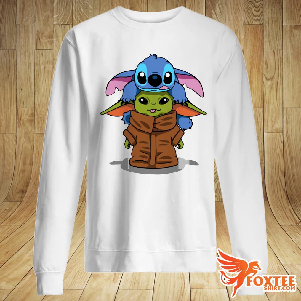 Baby Stitch And Baby Yoda Shirt And Sweater