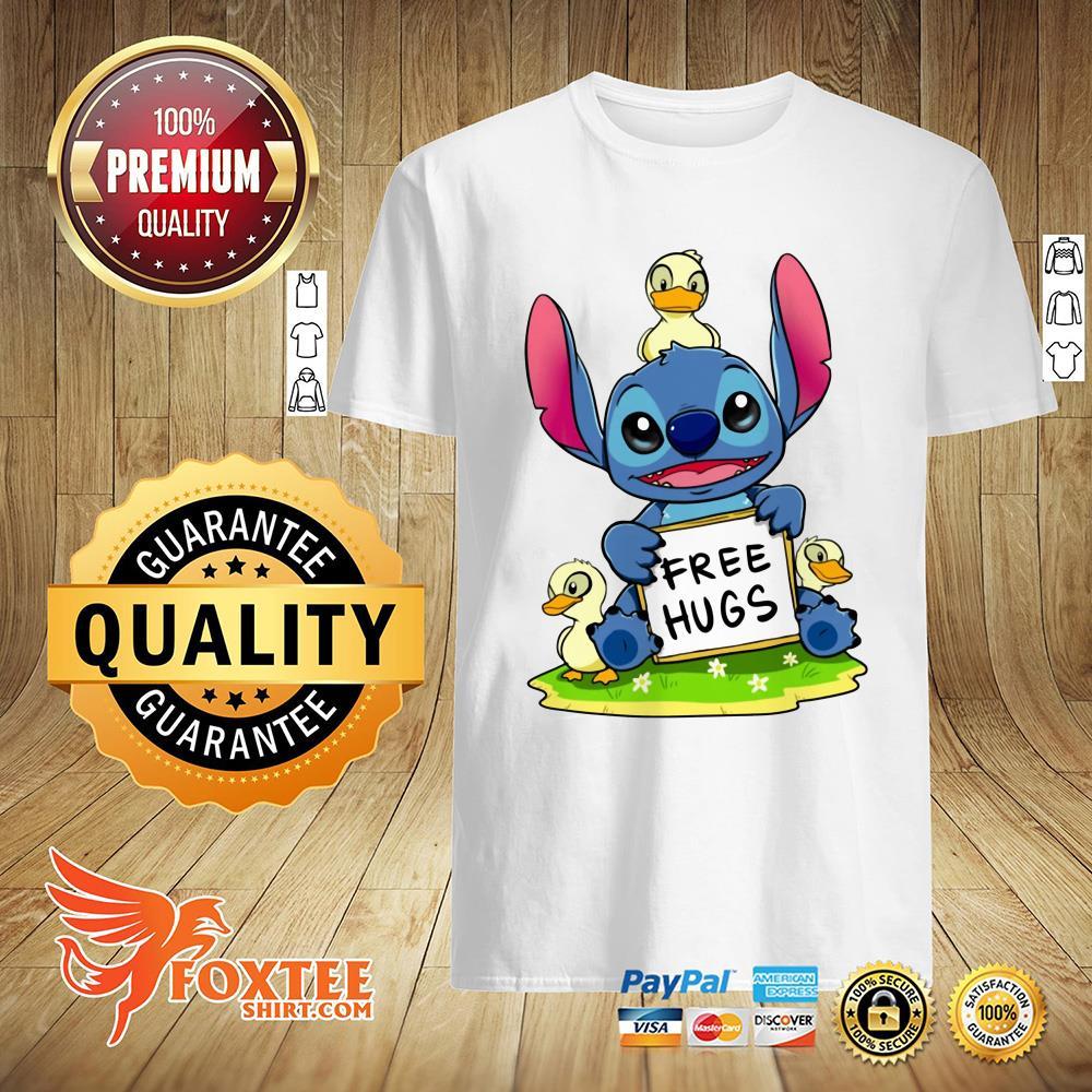 Baby Stitch And Duck Free Hug Shirt