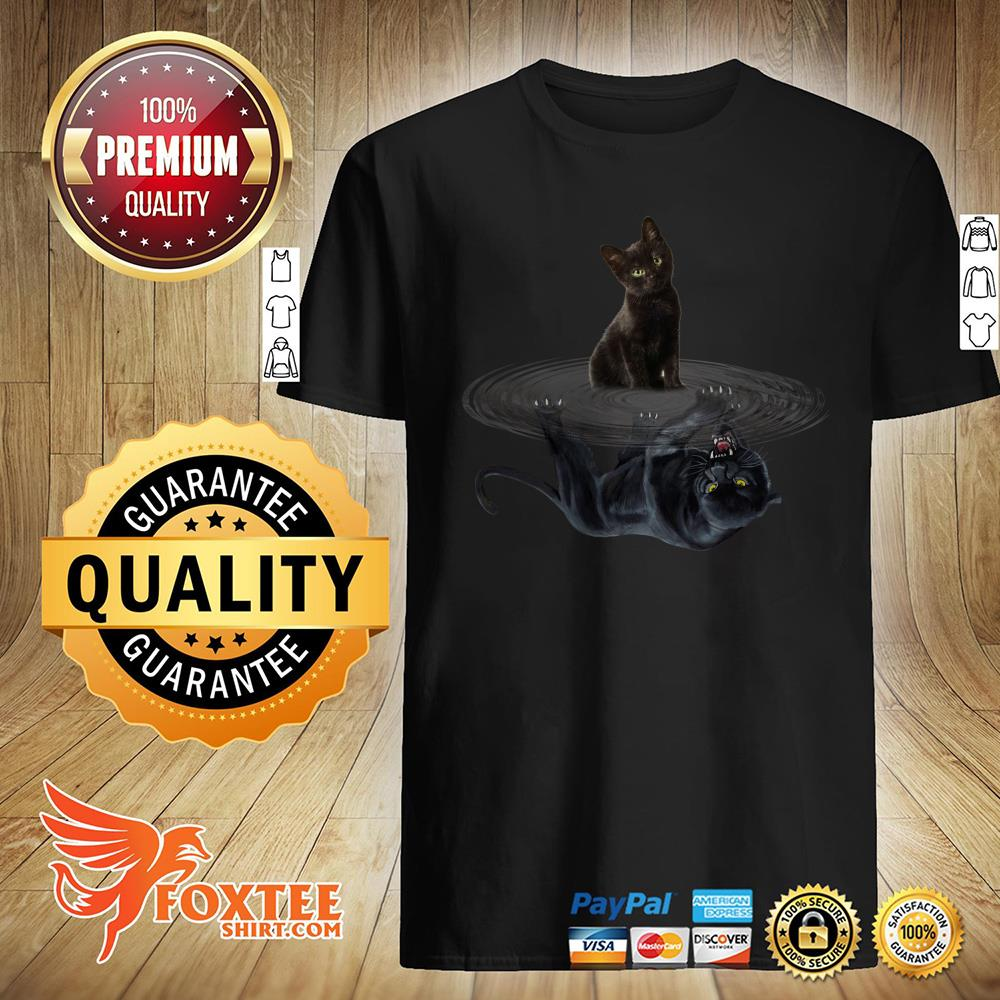 Black Cat Water Mirror Black Panther Shirt