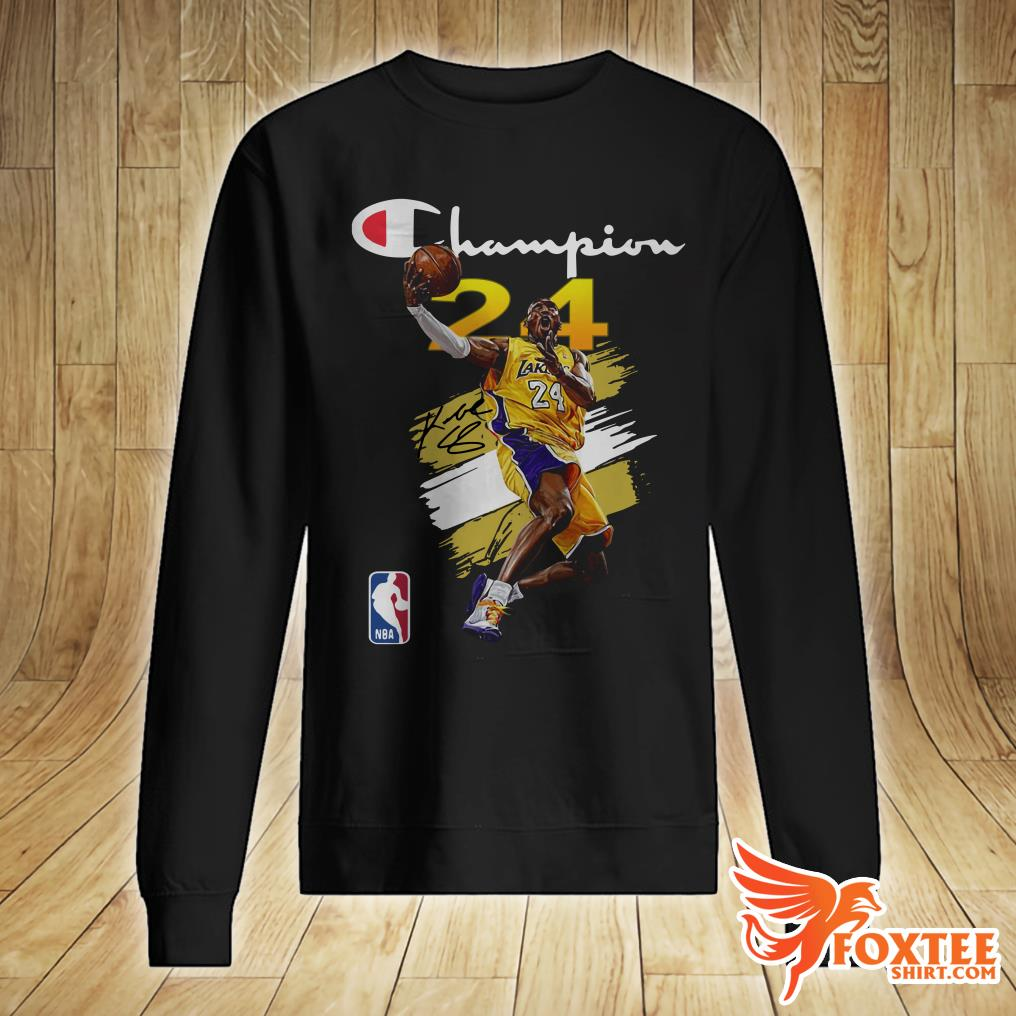 NBA Los Angeles Lakers #24 Kobe Bryant Champion signature shirt