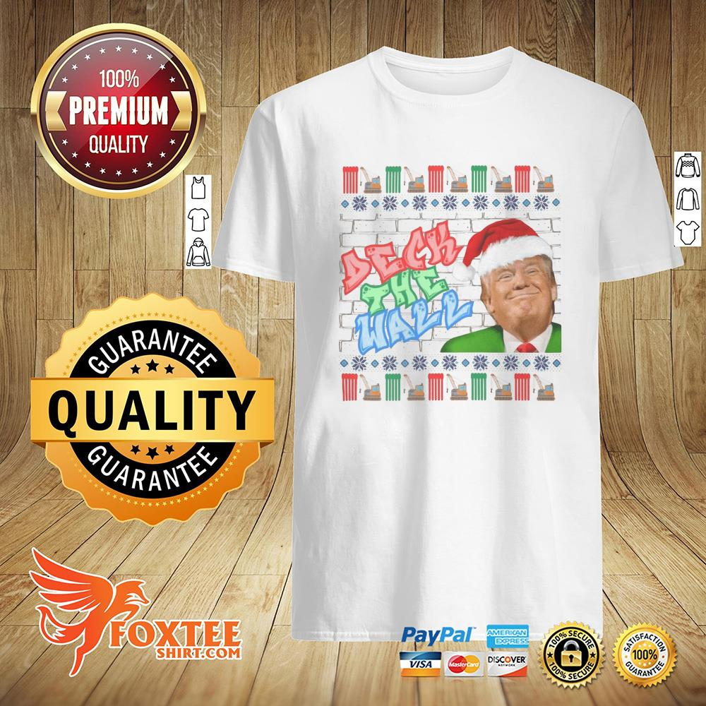 Trump Deck The Wall Christmas Sweater