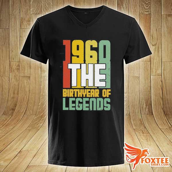1960 The Birth Year Of Legends Shirt v-neck