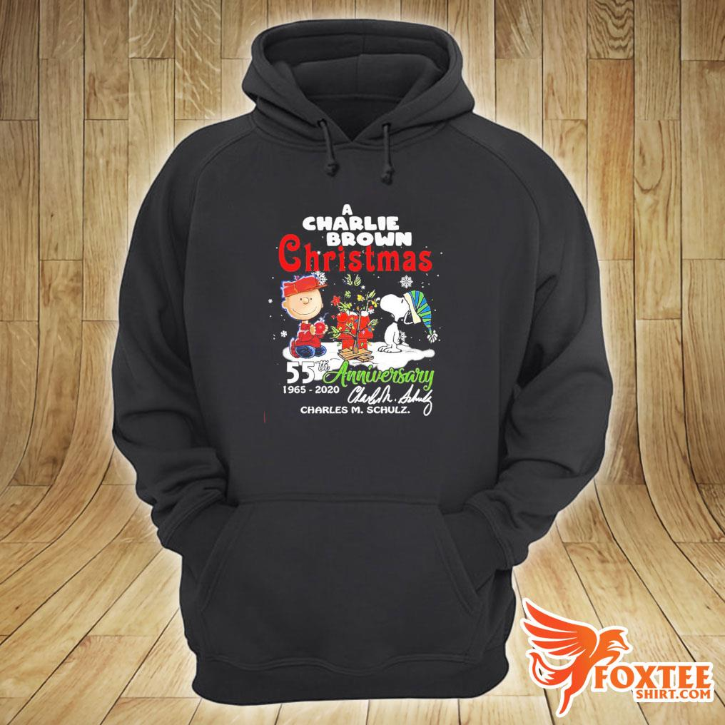 A Snoopy And Charlie Brown Christmas 55th Anniversary 1965-2020 Charles M Schulz Shirt hoodie