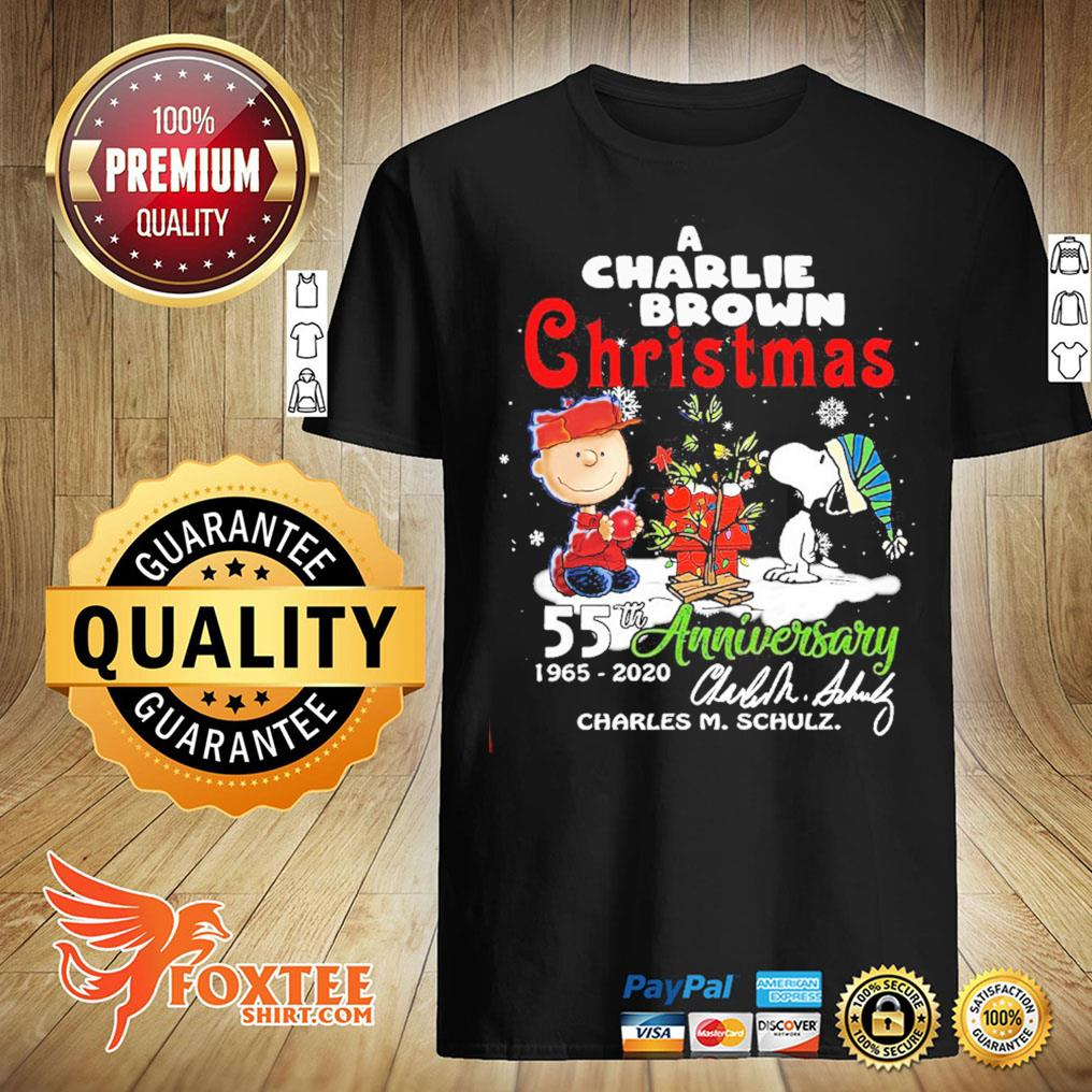 A Snoopy And Charlie Brown Christmas 55th Anniversary 1965-2020 Charles M Schulz Shirt