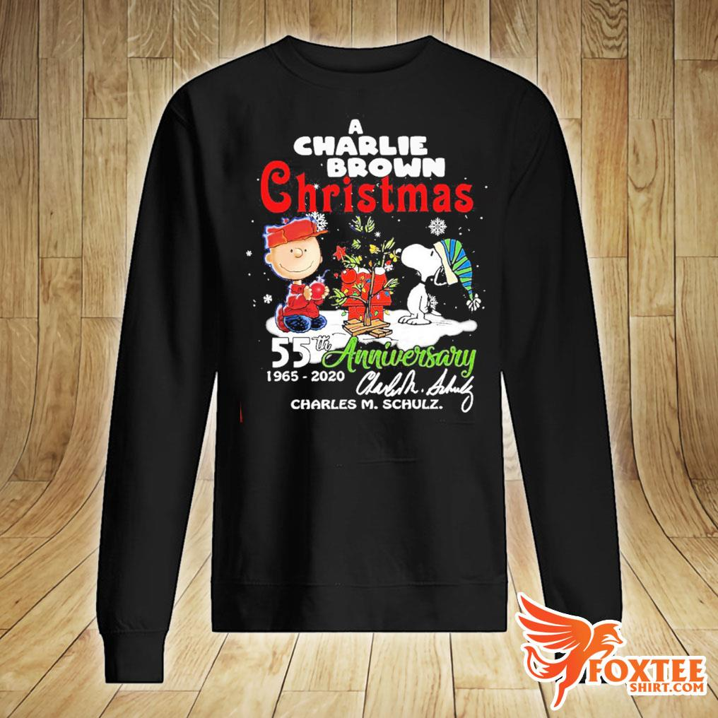 A Snoopy And Charlie Brown Christmas 55th Anniversary 1965-2020 Charles M Schulz Shirt sweater