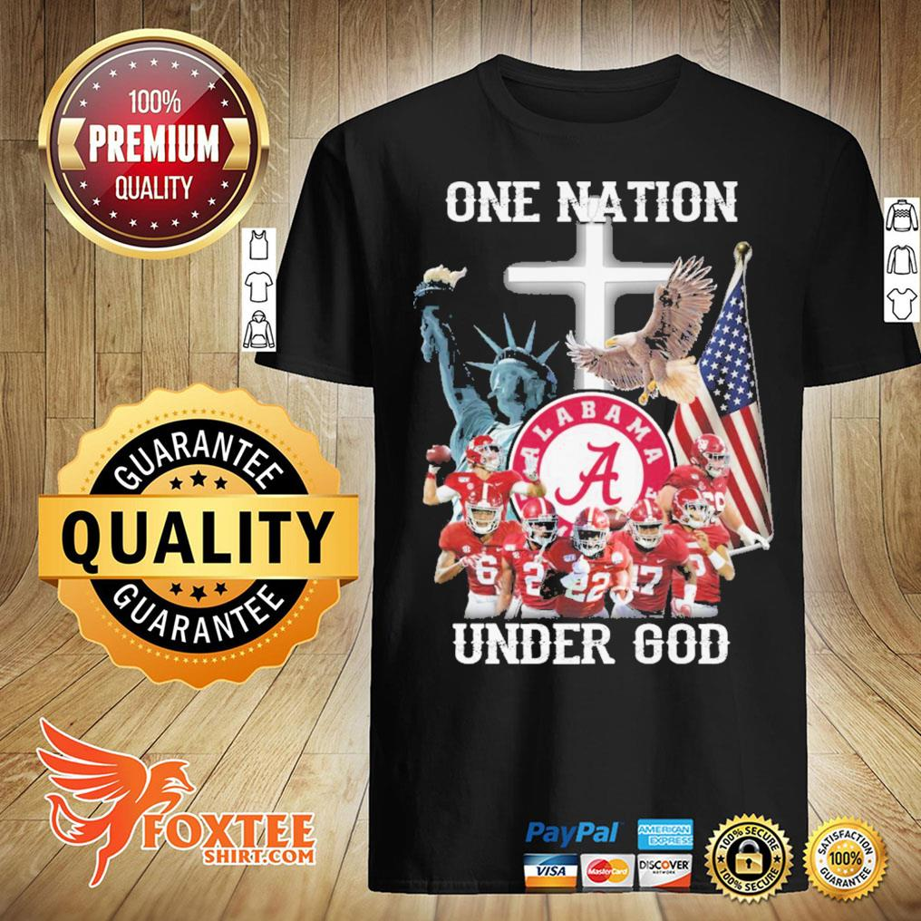 America Alabama Crimson Tide One Nation Under God Shirt