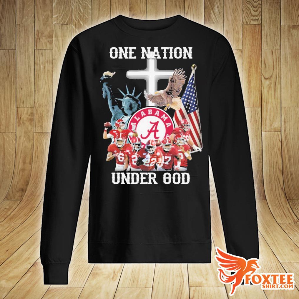 America Alabama Crimson Tide One Nation Under God Shirt sweater