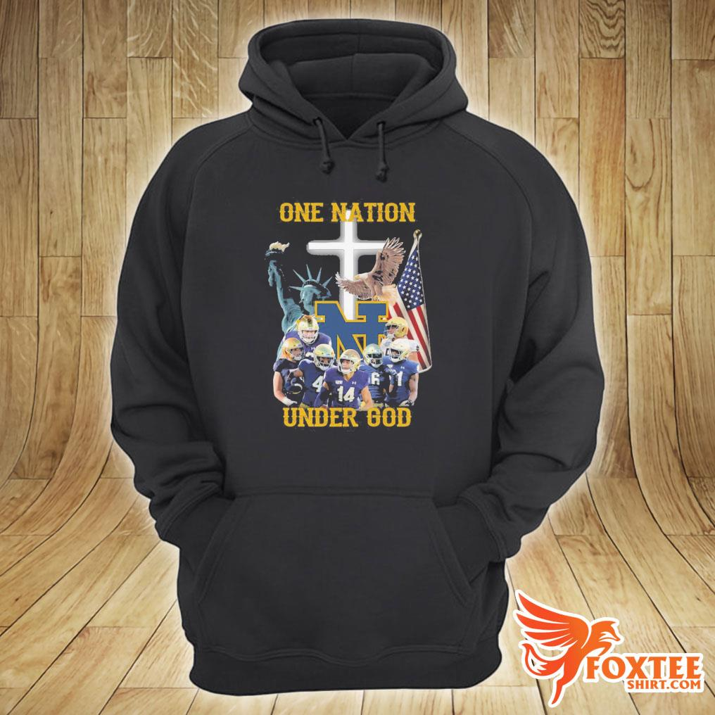 America Notre Dame Fighting Irish One Nation Under God Shirt hoodie