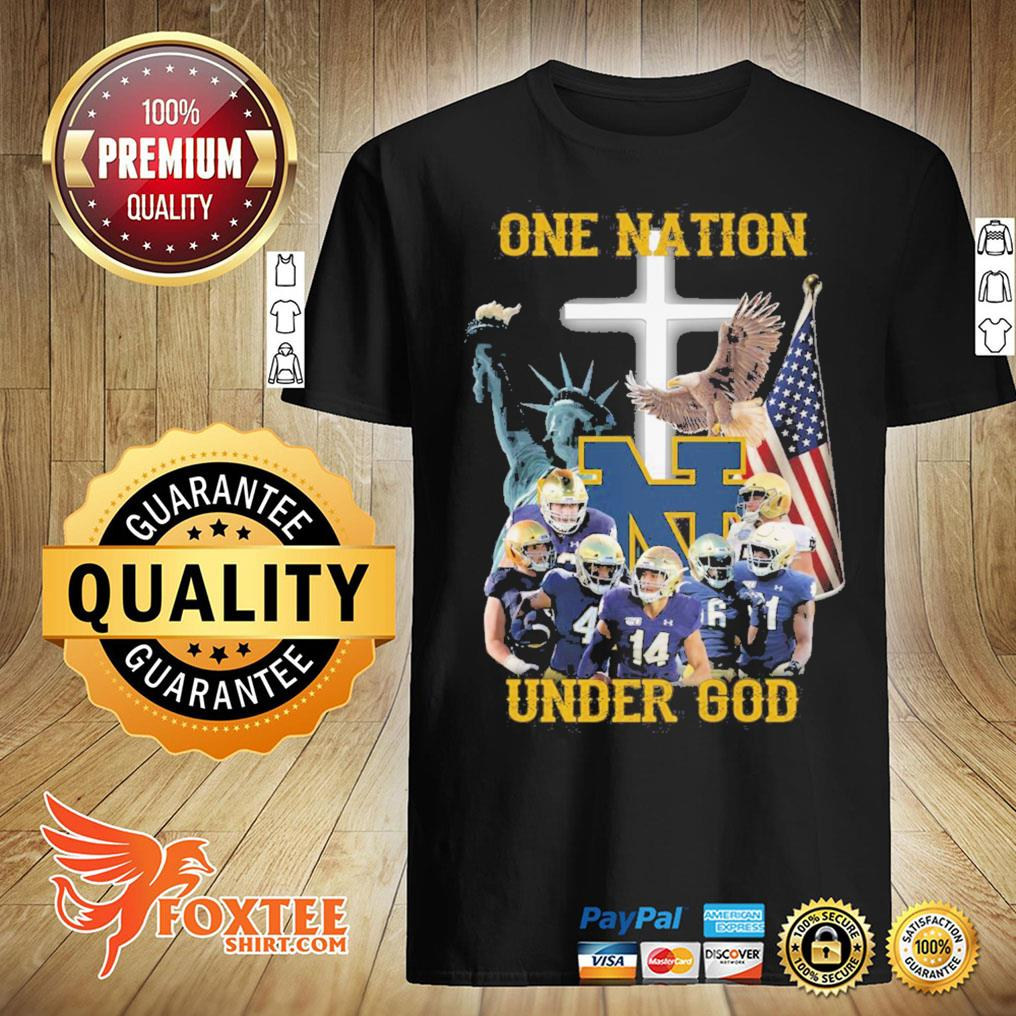 America Notre Dame Fighting Irish One Nation Under God Shirt