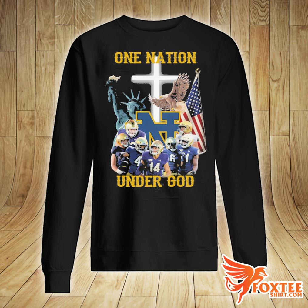 America Notre Dame Fighting Irish One Nation Under God Shirt sweater