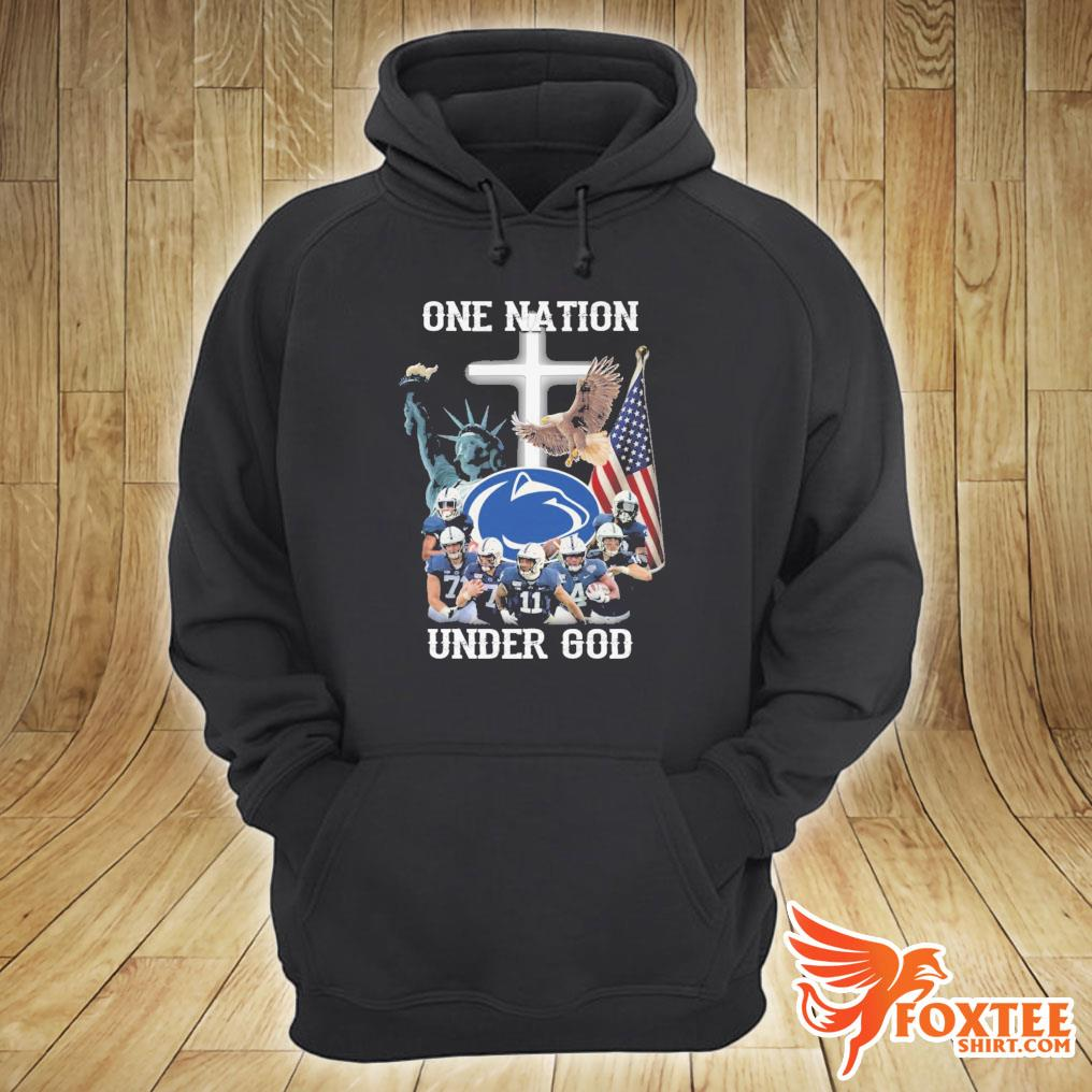 America Penn State Nittany Lions One Nation Under God Shirt hoodie