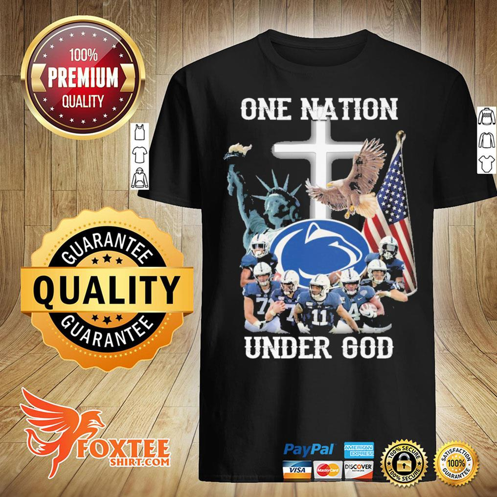 America Penn State Nittany Lions One Nation Under God Shirt
