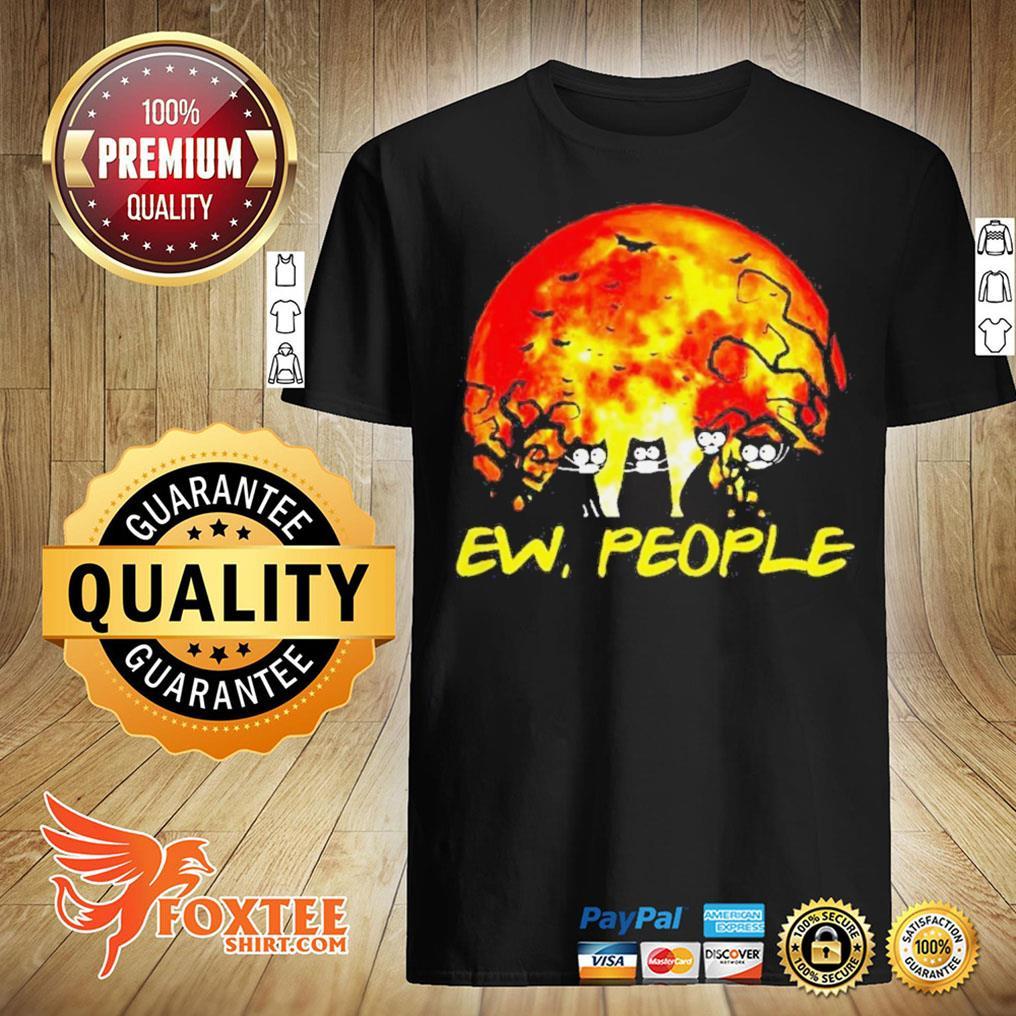 Black Cat Ew People Halloween Shirt